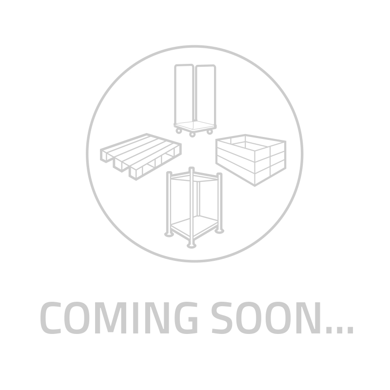 Roll conteneur 3 parois à fixation, base plastique,720x810