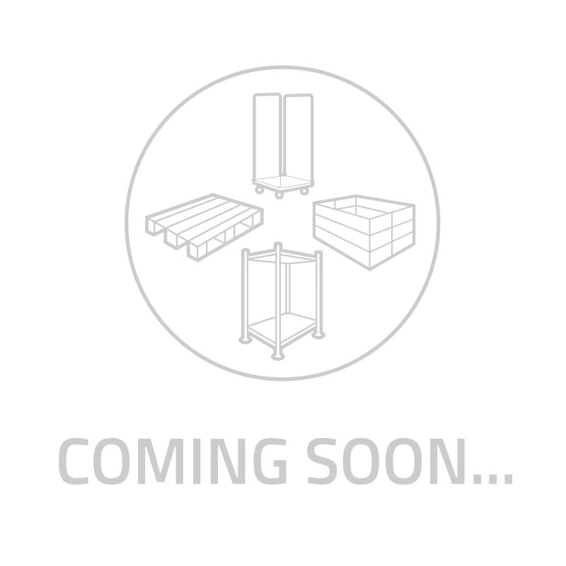 Rack mobile double avec plancher grille, mailles 50x50 mm