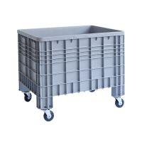 Caisse industrielle plastique sur roulettes